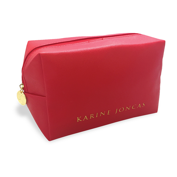 KJ RED COSMETIC BAG